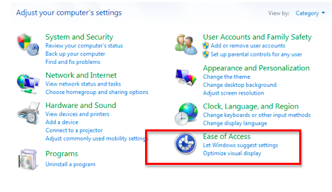 Visual Notifications in Windows 7 » Hearing » 4All » Tech Ease