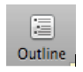 Outline button.