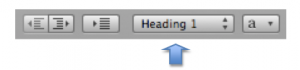 Closeup with toolbar with Styles menu highlighted.