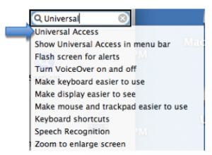 Search text box in the System Preferences window.