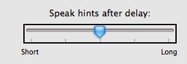 Slider with VoiceOver cursor focus.
