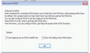 NVDA welcome screen.