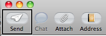 Send button on New Message Window toolbar.