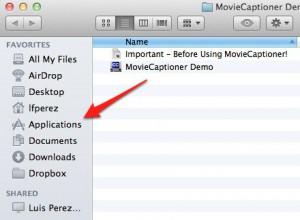 Drag MovieCaptioner Demo to Applications folder.
