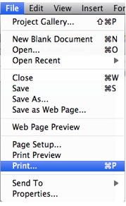Select File, Print.