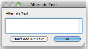 Alternate text window.