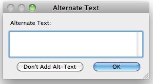 Alternate text window.