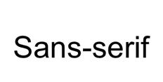 Example of a sans-serif font.