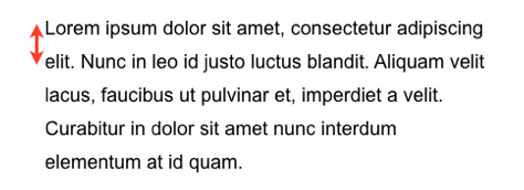 Example of a paragraph that uses line height to add space between lines that improves readability.
