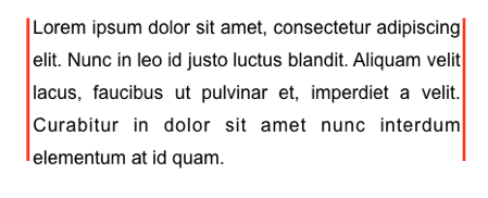 Example of fully justified text, which has unnatural gaps between some words.