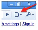 Page options button on toolbar of Google Chrome for Windows