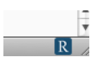 Readability icon in lower right corner of Firefox window.