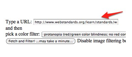 Colorblind Webpage Filter: enter a URL and choose Fetch and filter!