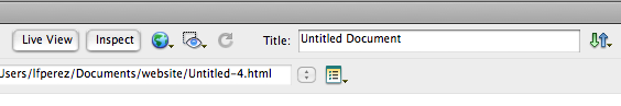 Dreamweaver Document toolbar.