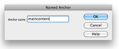 Named anchor window.
