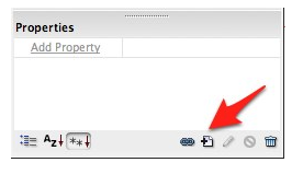 New CSS Rule button in Dreamweaver Styles panel.