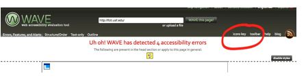 Checking the Accessibility of Your Site with WAVE » Web