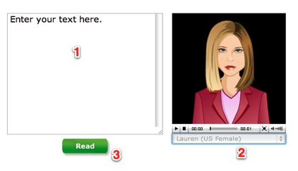 Read The Words Screenshot showing Avatar and text-entry area.