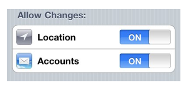 Options for Allow Changes.