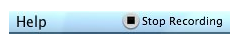Stop Recording option in OS X Menu Bar.