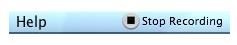Stop Recording option in OS X Menu Bar.