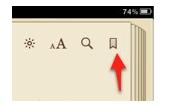 Bookmark button in iBooks