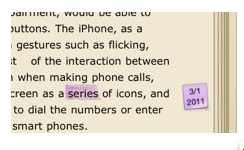 Note icon indicating a note in the margin of the ebook with the date.