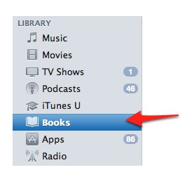 Books category in iTunes.