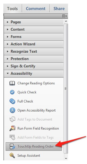 Changing The Reading Order Of A PDF Document With Adobe Acrobat - Out of order sign pdf